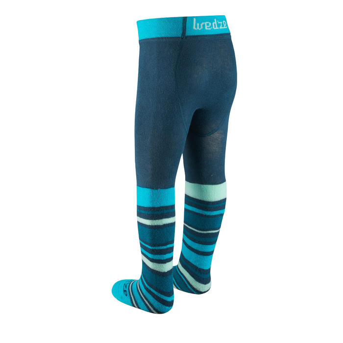 Warm Baby Sledging Tights - Turquoise
