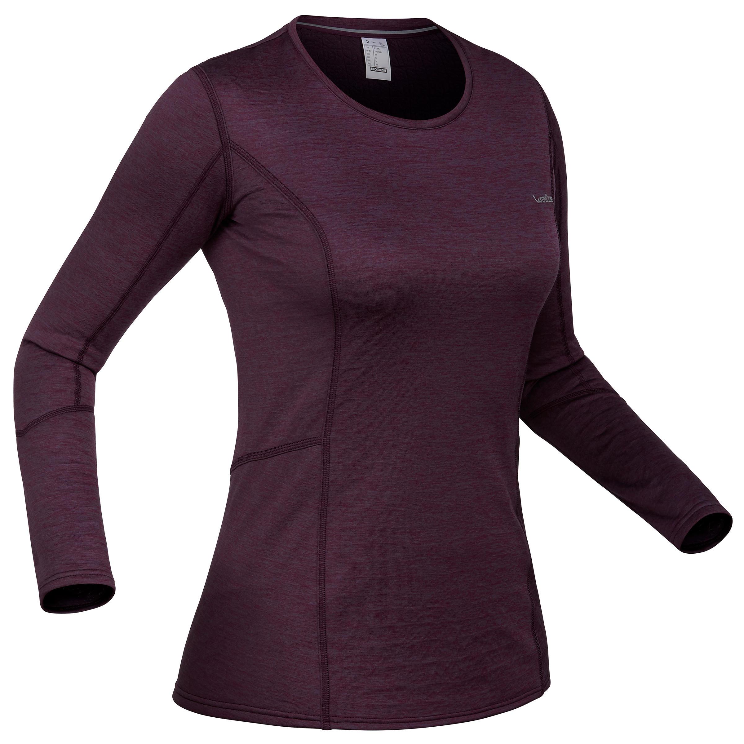 Skiunterhemd Funktionsshirt 500 Damen violett | Sportbekleidung > Funktionswäsche > Thermounterwäsche | Violett | Polyester | Wed´ze