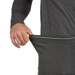 Skithermobroek voor heren 500 grijs