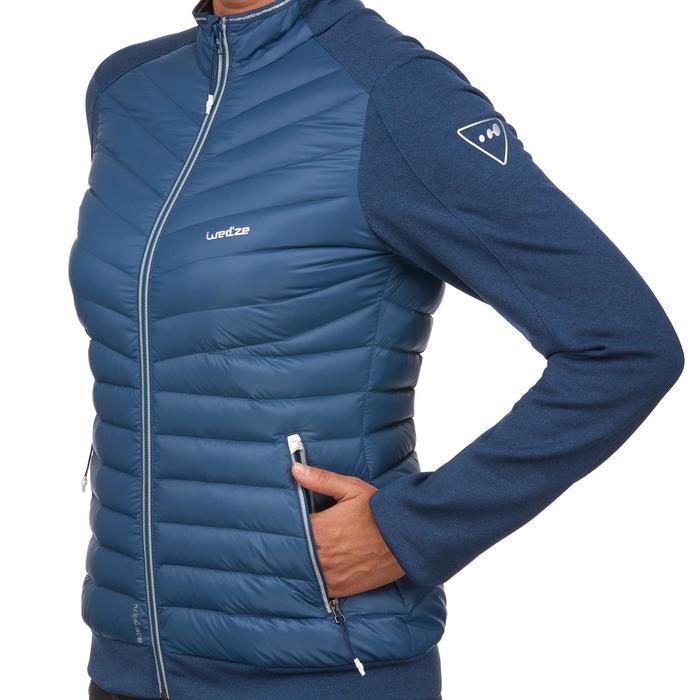 Chaqueta térmica plumón de esquí mujer 900 azul