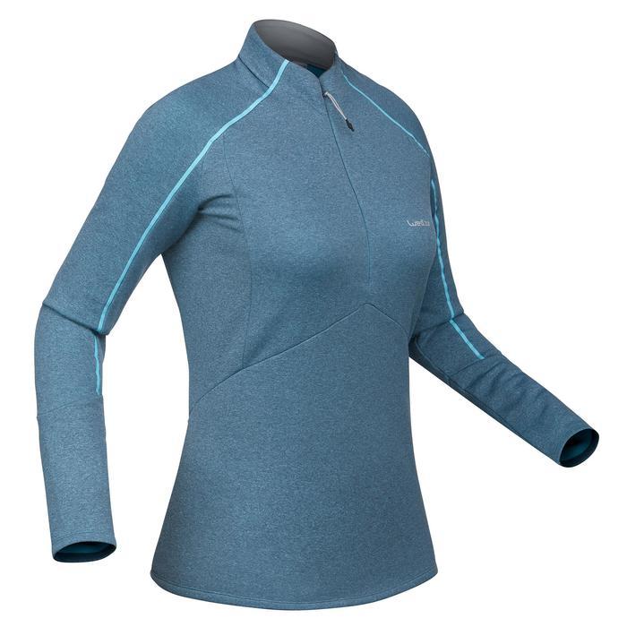 Skiunterhemd MD 500 Damen blau