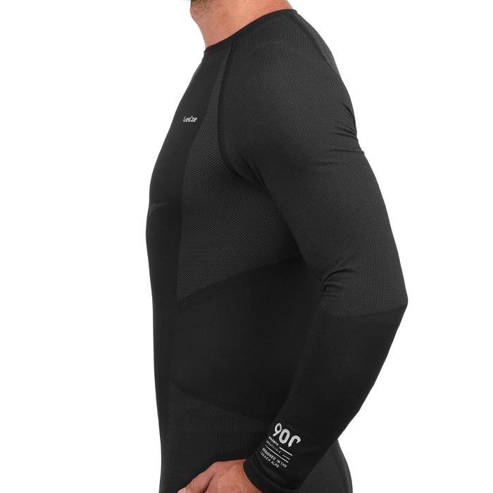 Sous-vêtement haut de ski homme 900 Noir Gris