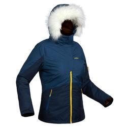 Skijacke Piste 150 Damen marineblau