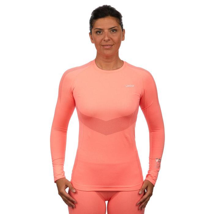 Thermisch ondershirt 900 voor skiën dames roze