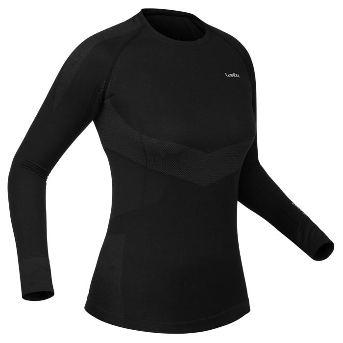 Thermisch ondershirt 900 voor skiën dames zwart