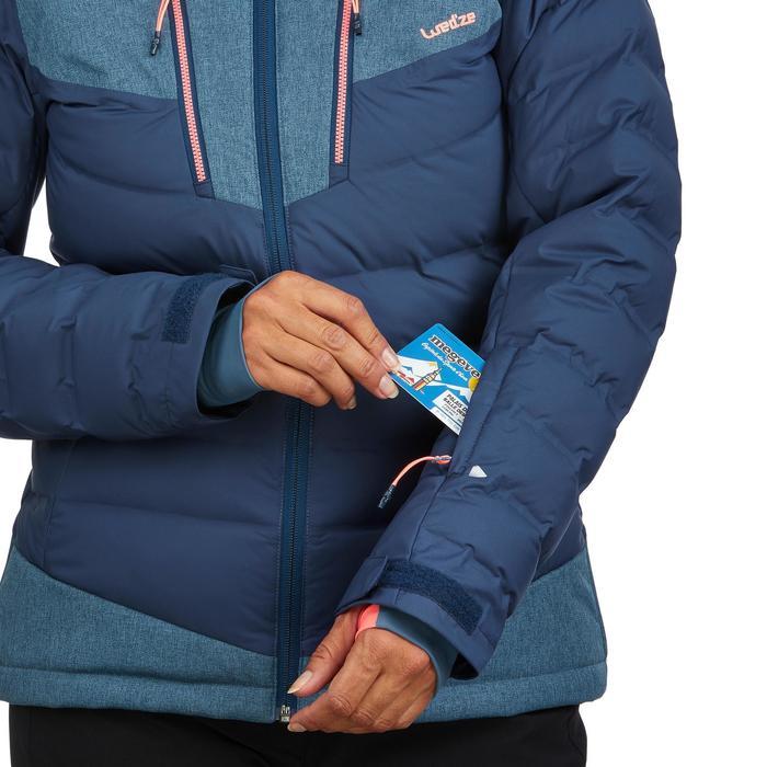 Ski-jas voor pisteskiën dames 900 Warm blauw