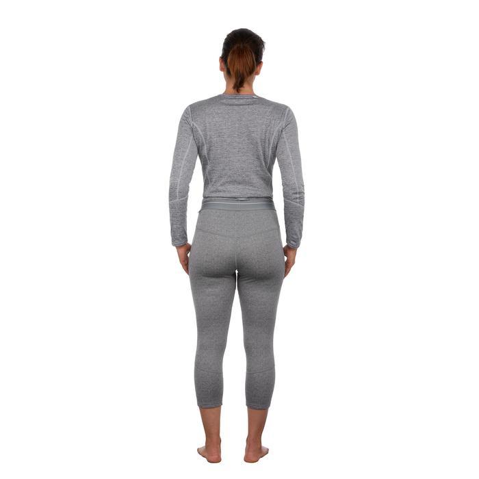 Skithermobroek voor dames 500 grijs