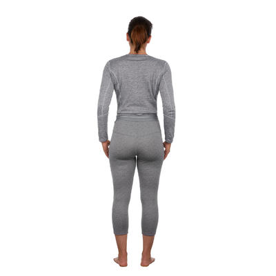 Women's base layer ski bottoms 500 - Grey