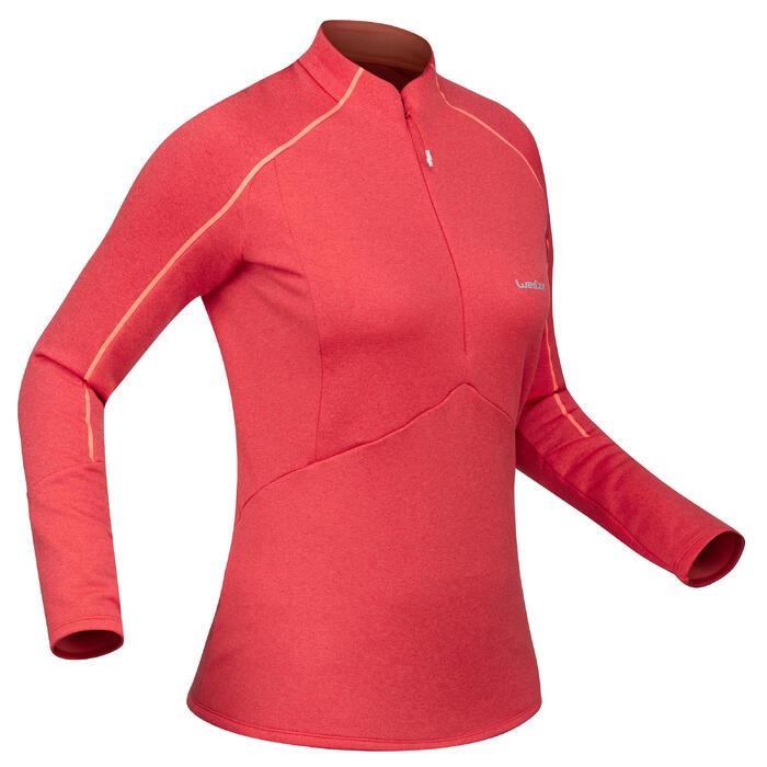 Skiunterwäsche Funktionsshirt MD 500 Damen rosa