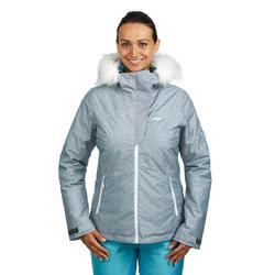 Ski jas dames voor pisteskiën 180 grijs dames