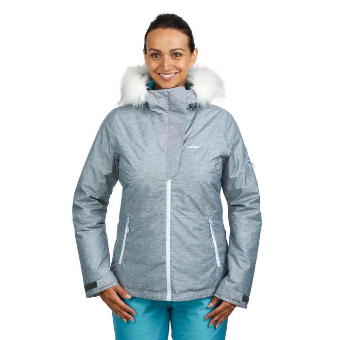 Skijacke Piste 150 Damen grau