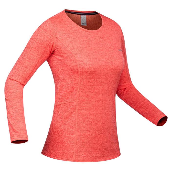 Skiondershirt voor dames 500 koraalrood