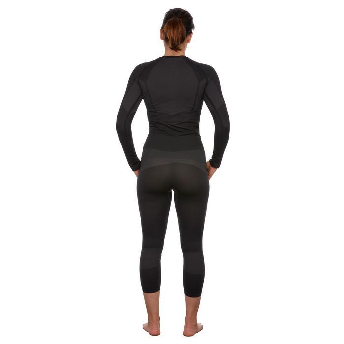 Dames thermobroek voor skiën 900 zwart