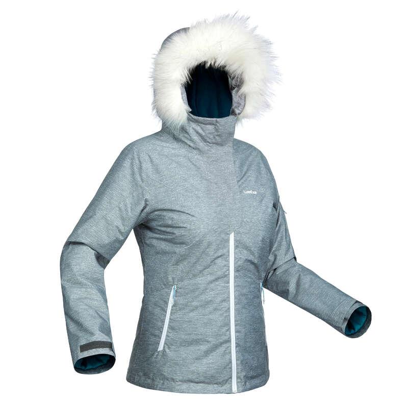 WOMEN'S CLOTHING BEGINNER SKIERS Clothing - W D-SKI JACKET 180 - GREY WEDZE - Jackets and Coats