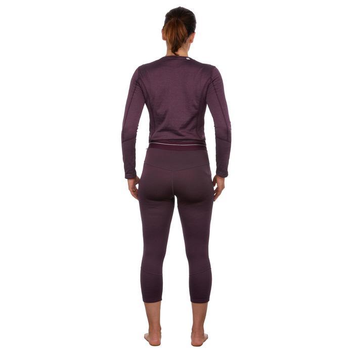 Thermobroek voor skiën dames 500 paars