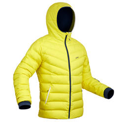 Ski-P 500 MEN'S WARM SKI DOWN JACKET - YELLOW