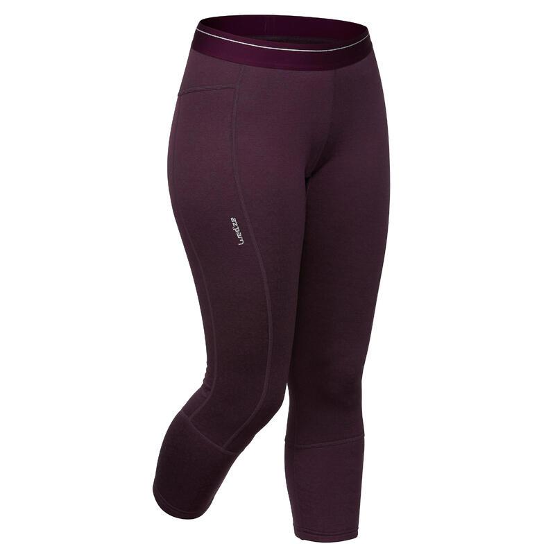 Sous-vêtement de Ski Femme Bas 500 Prune