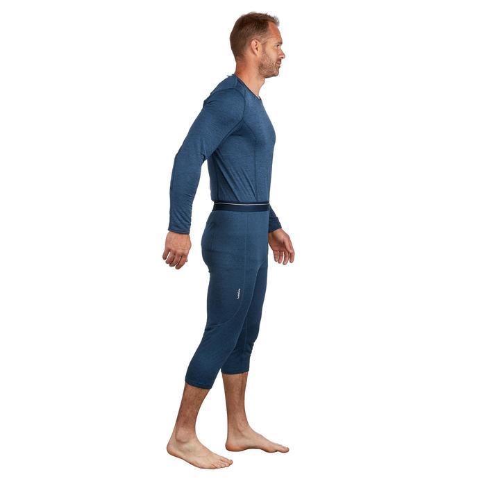 Skithermobroek voor heren 500 blauw