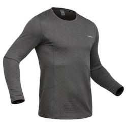 Men's Base Layer Ski Top 500 - Grey