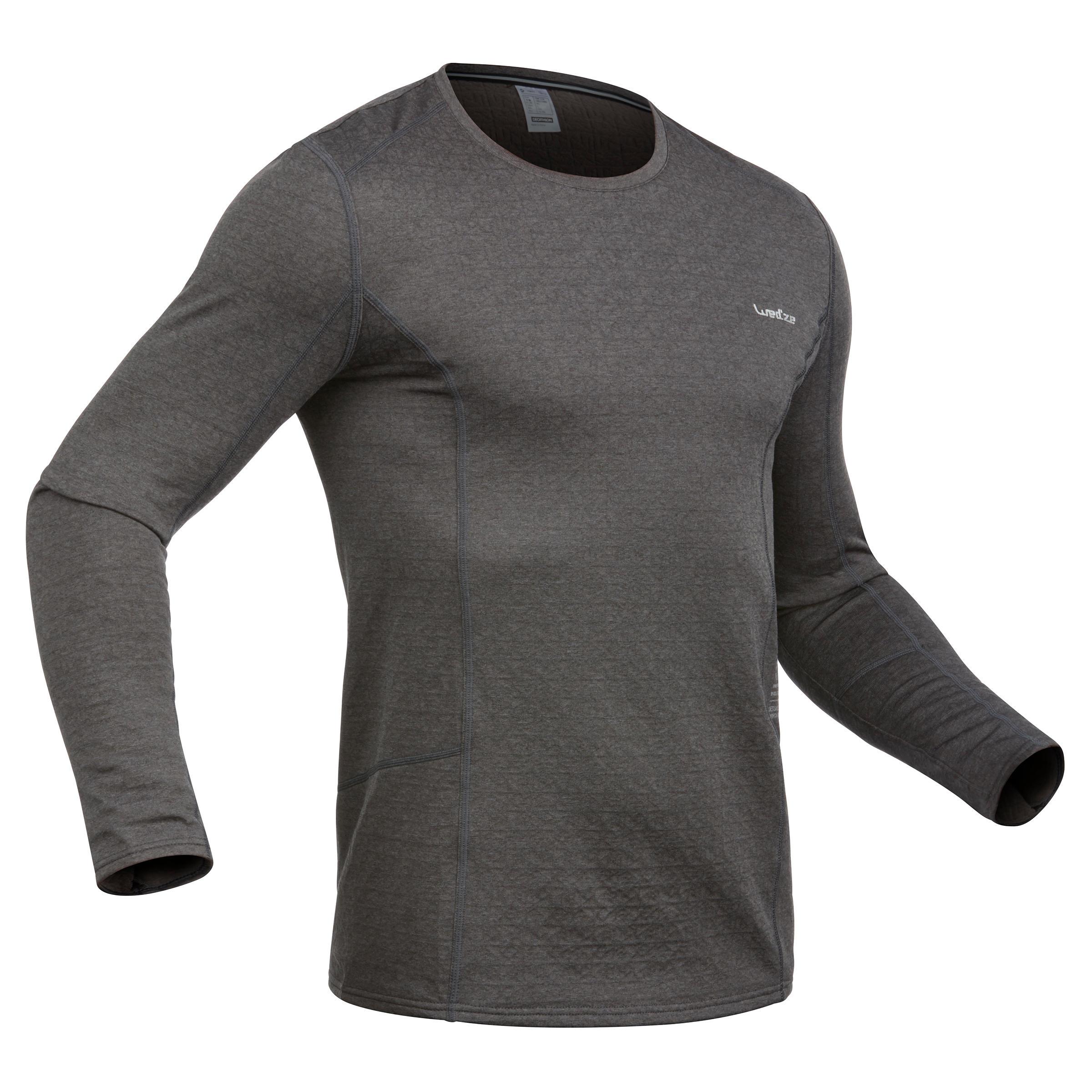 Skiunterhemd Funktionsshirt 500 Herren grau | Sportbekleidung > Funktionswäsche > Thermounterwäsche | Wed'ze