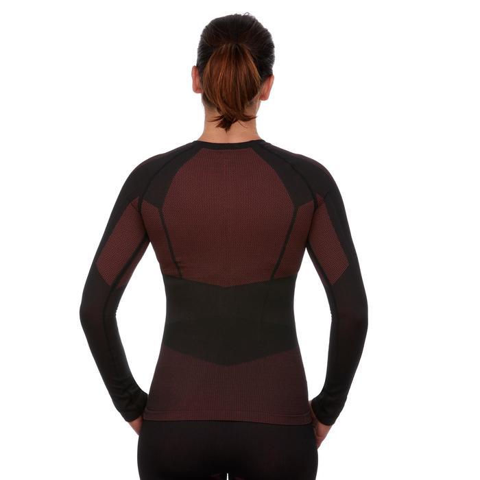 Skiunterwäsche Funktionsshirt 900 Damen schwarz rosa