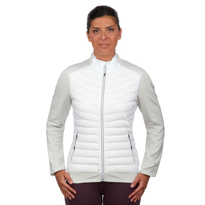 Chaqueta plumas esquí y nieve interior Wed'ze 900 Mujer Blanco