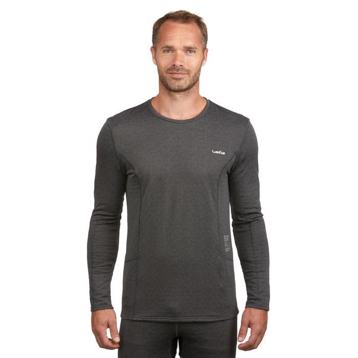 Camiseta térmica Esquí y Nieve Interior Wed'ze 500 Hombre Gris
