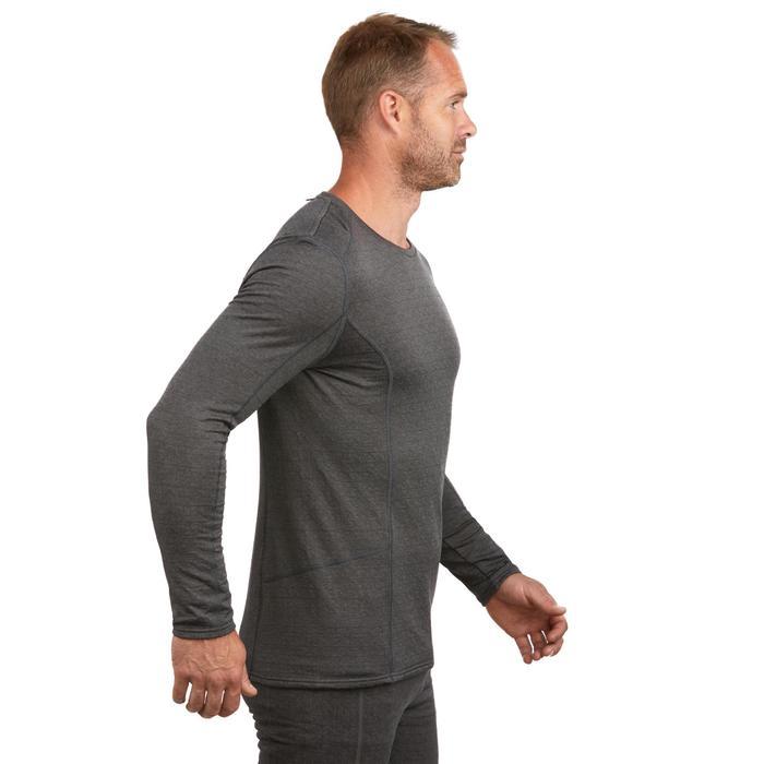 Camiseta térmica interior nieve y esquí Wed'ze 500 hombre gris