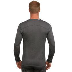 男款滑雪底層上衣500 - 灰色