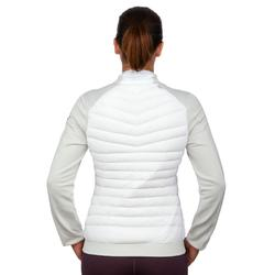 Chaqueta térmica plumón de esquí mujer 900 blanco