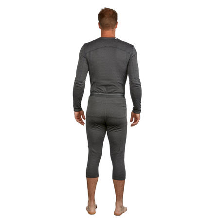 Men's base layer ski bottoms 500 - Grey