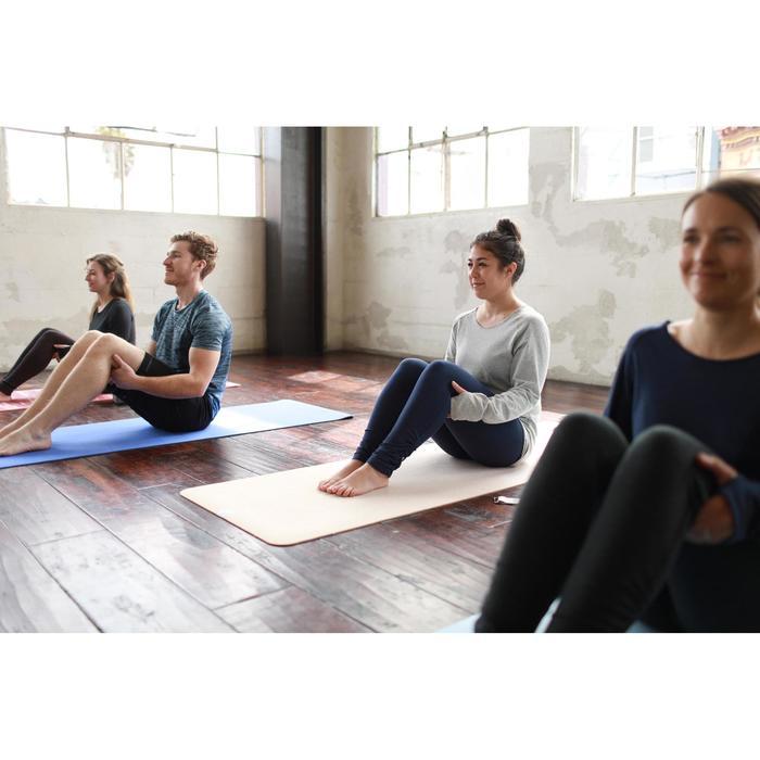 Dameslegging voor zachte yoga uit biokatoen marineblauw