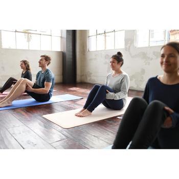Legging yoga femme coton issu de l'agriculture biologique noir / gris chiné - 1509217
