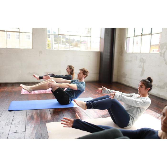 Legging yoga femme coton issu de l'agriculture biologique noir / gris chiné - 1509218