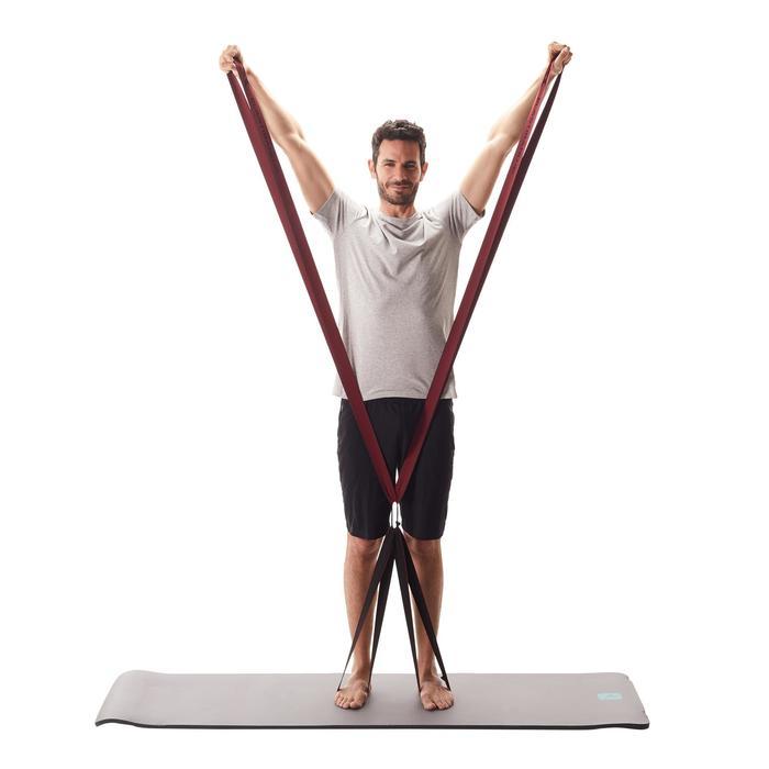 Stoffen weerstandsband voor pilates/figuurtraining 500 4 banden