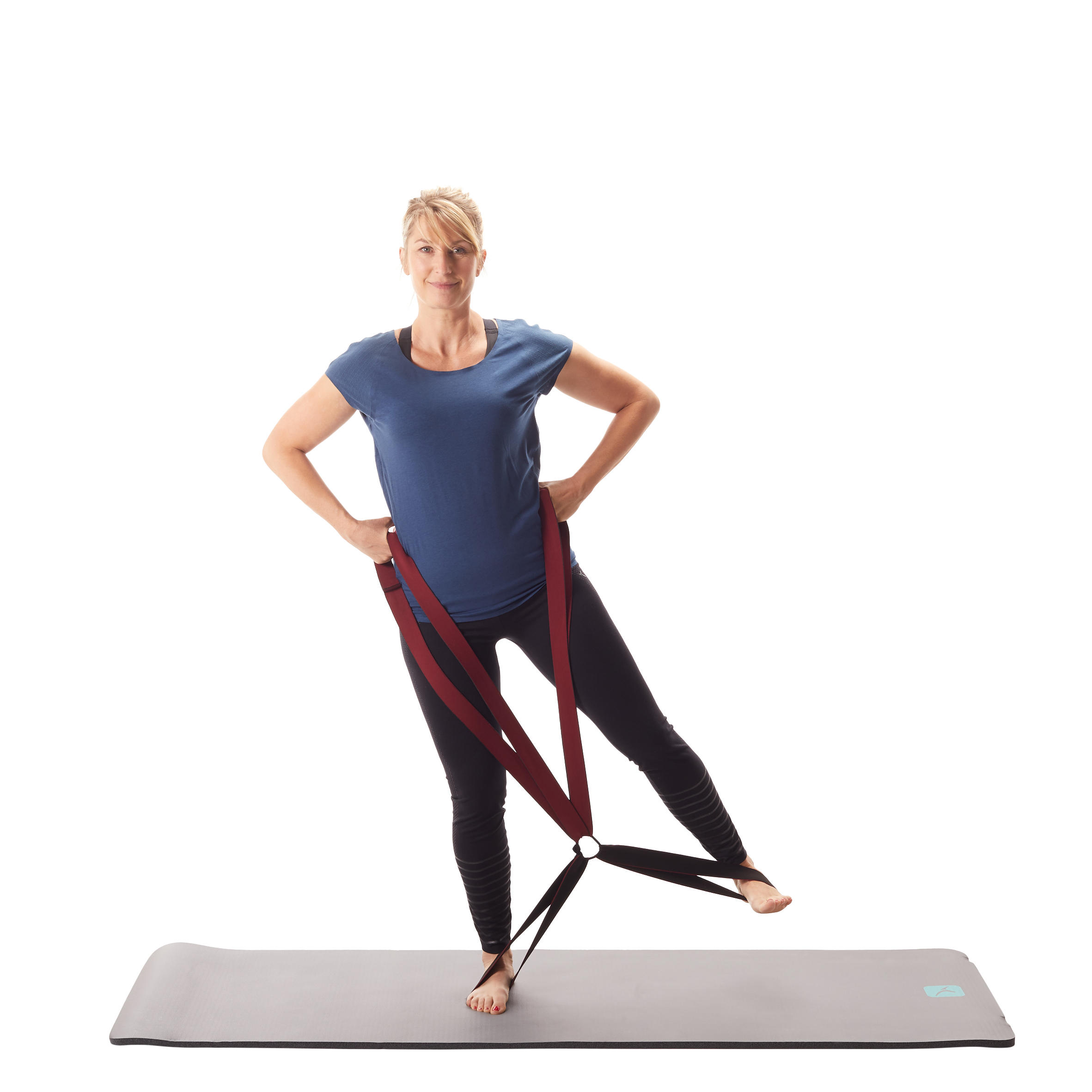 500 Pilates Toning Fabric Elastic Band 4 Loops