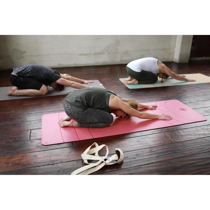 Naadloze yogatop voor dames kaki