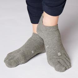 CHAUSSETTES YOGA 5 DOIGTS ANTIDERAPANTES GRIS CHINE