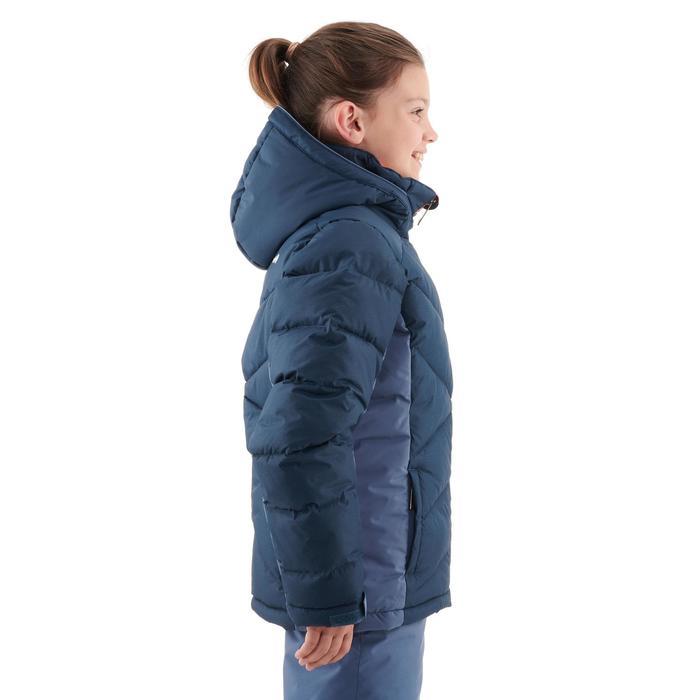 Skijacke Daunen Ski-P JKT 500 Warm Kinder blau