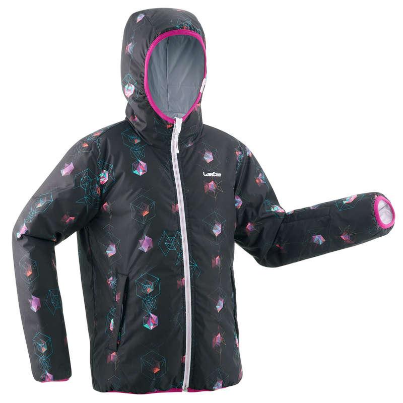 GIRL BEGINNER ON PIST SKIING CLOTHS Clothing - JR D-Ski Jkt W RVS 100 - White WEDZE - Coats and Jackets