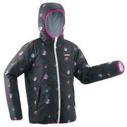 Ski-jas voor kinderen SKI-P JKT 100 Warm Reverse wit print