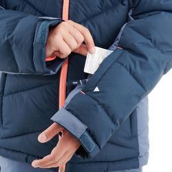 VESTE DE SKI ENFANT WARM 500 MARINE ET CORAIL