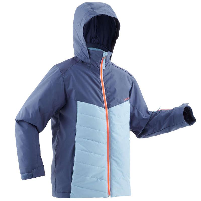 GIRL INTERMEDIATE ON PIST SKIING CLOTHS Clothing - JR D-SKI JACKET 300 - BLUE WEDZE - Coats and Jackets