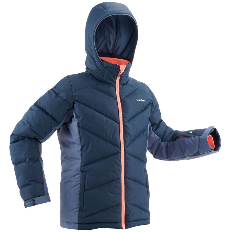 GIRL INTERMEDIATE ON PIST SKIING CLOTHS Clothing - JUNIOR D-SKI JKT WARM 500 - BL WEDZE - Coats and Jackets