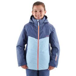Skijacke Piste 500 Kinder blau