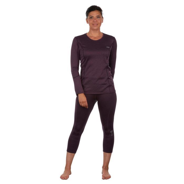 Thermoshirt dames ski 500 pruim