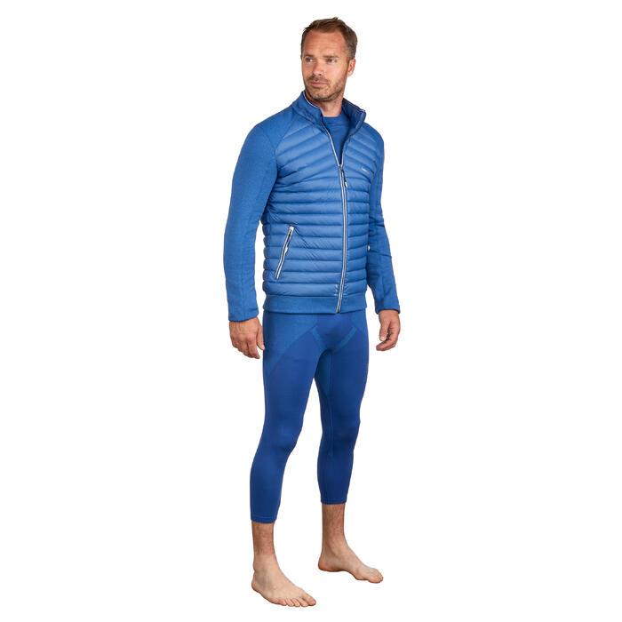 Dons midlayer voor skiën heren 900 blauw