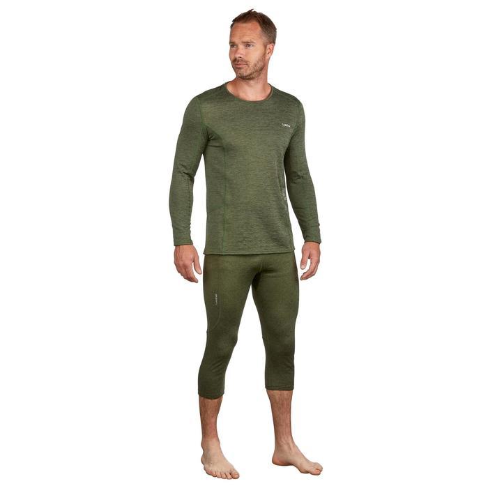 Pantalon térmico interior Nieve y Esquí Wed'ze 500 hombre verde