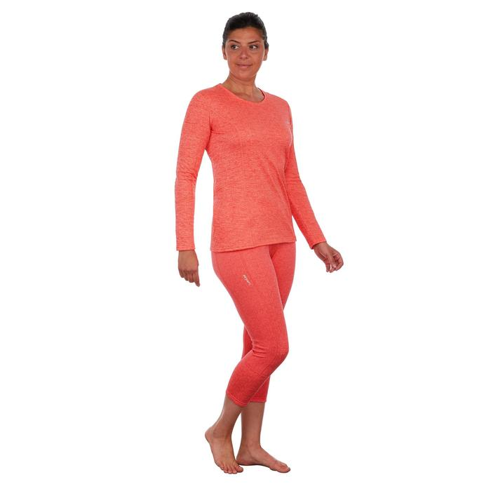 Camiseta de esquí mujer 500 coral