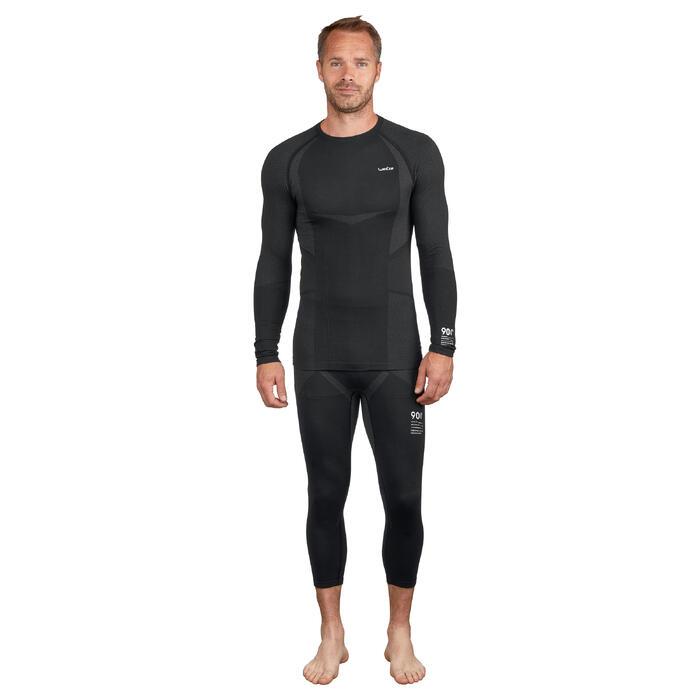 Pantalón de esquí hombre 900 negro gris